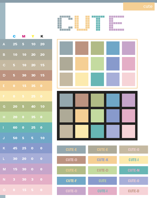 cute color schemes color combinations color palettes for print cmyk